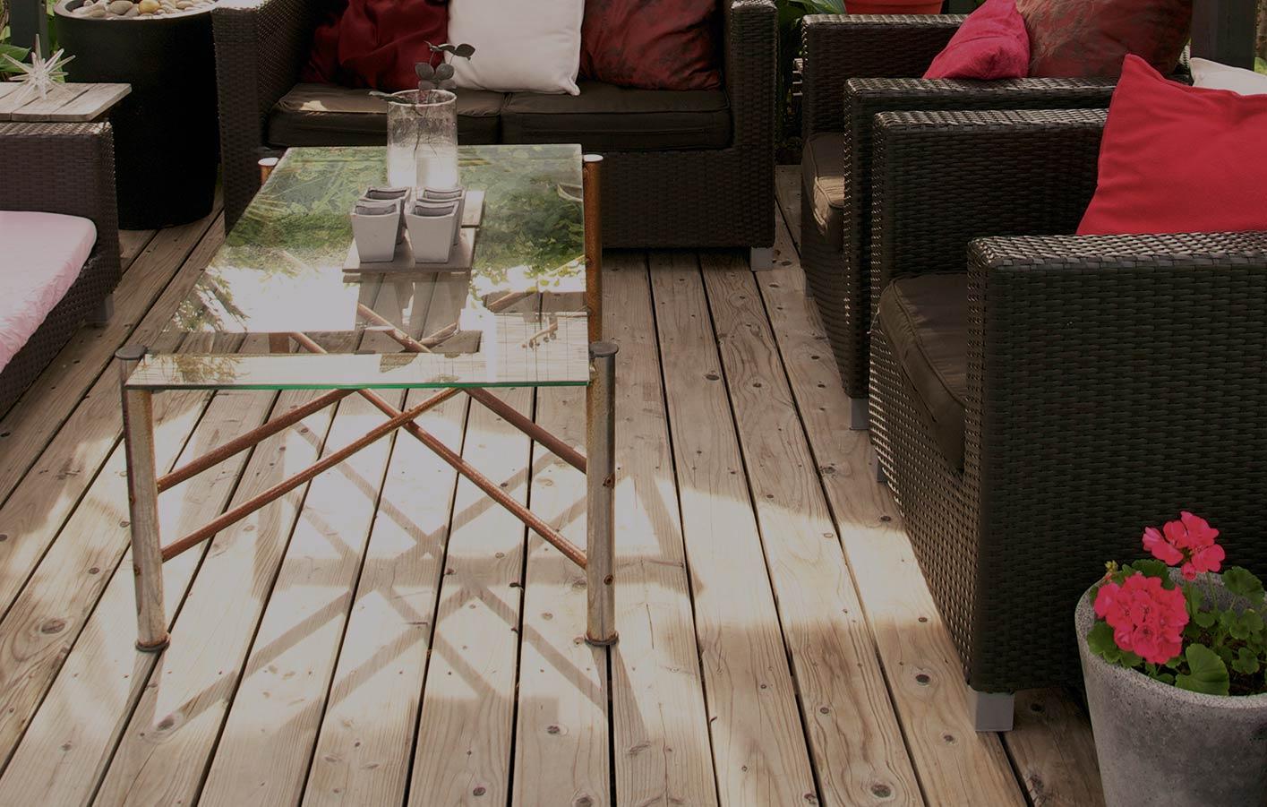 Terrasse Bangkirai Terrasse Douglasie Holz-Terrassendielen ...